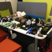 Various pieces of hardware (Wi-FI routers, etc.) that hackers tried to breach
